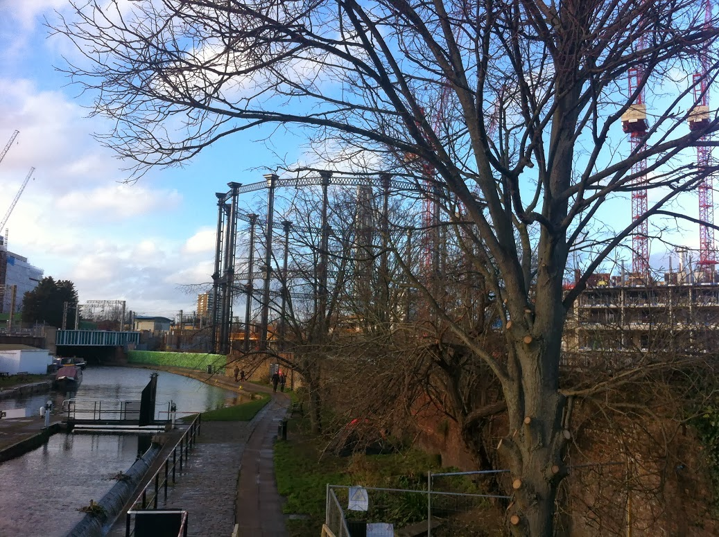 Gas tower on the Regent's Canal
