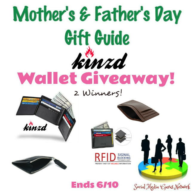 Wallet Giveaway Mother's and Father's Day Gift Guide