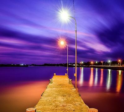 Foto-foto sunset di pantai Glagah