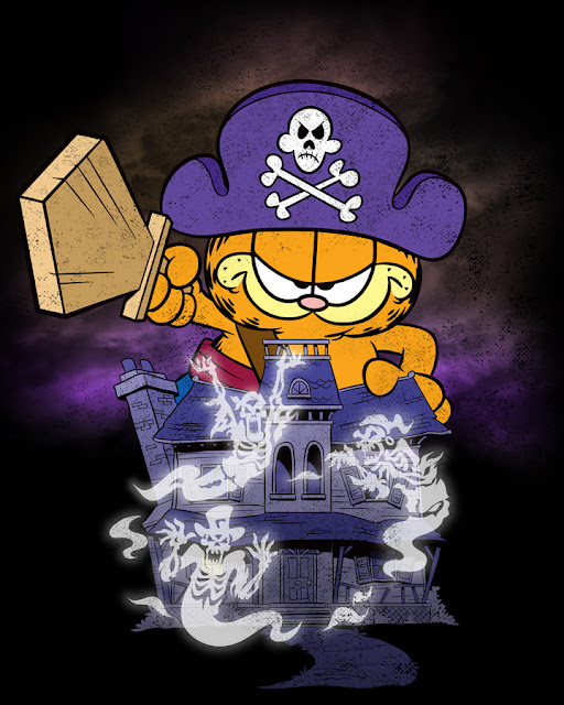 garfield halloween shirt