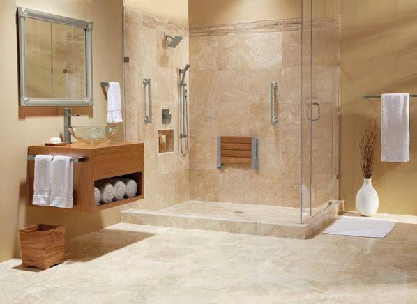 ... di legno, il lavabo è di vet ro e ricorda la forma di una bacinella