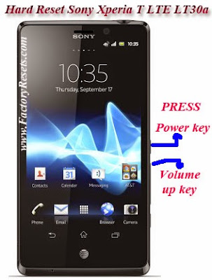 Hard Reset Sony Xperia T LTE LT30a