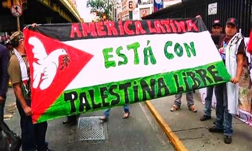 América Latina é solidária com a Palestina