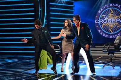 Shahid Kapoor & Illeana D'cruz on sets of KBC to promote PPNH