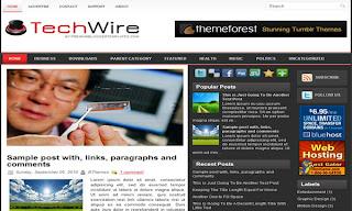 TechWire Blogger Template