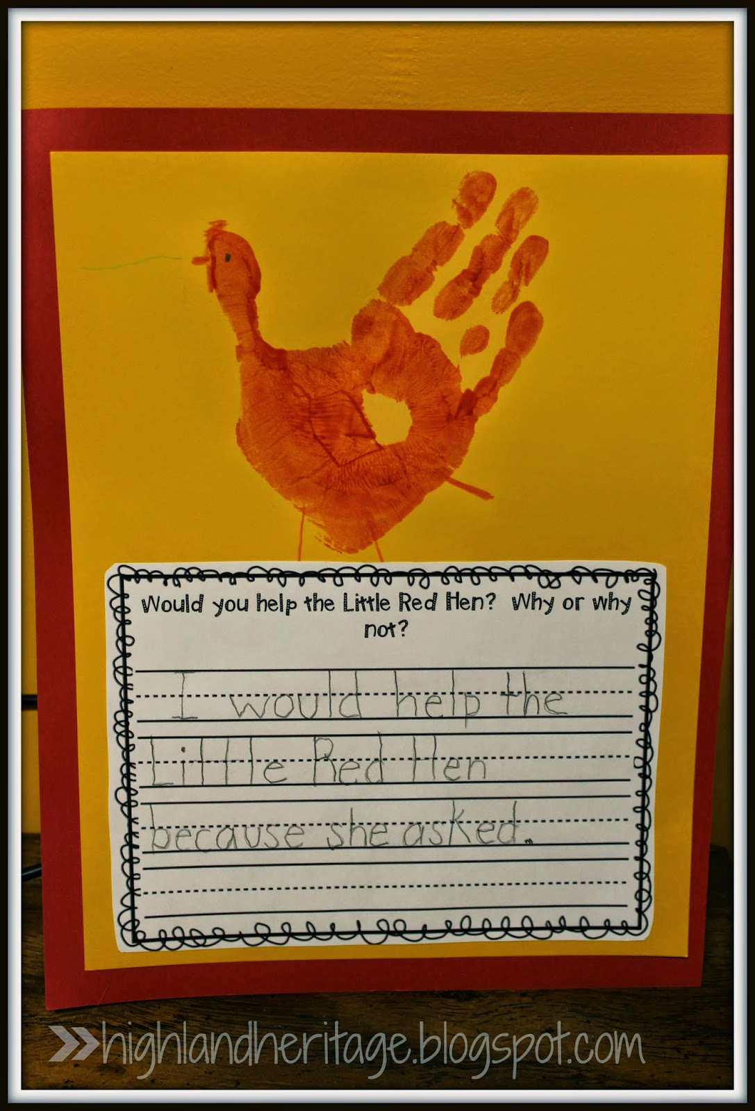 Retell Literacy Center Activity – The Little Red Hen