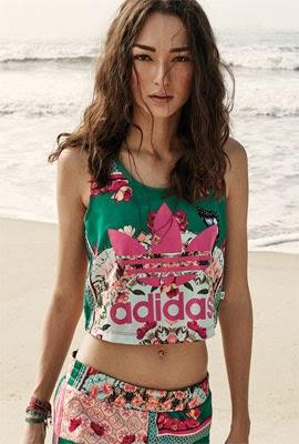 Adidas Originals e Farm regata e short estampa Borboflor