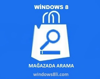 Windows 8 mağaza Arama