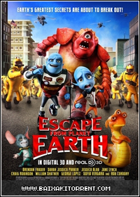 Capa Baixar Filme A Fuga do Planeta Terra (Escape From Planet Earth) BRRip   Torrent Baixaki Download