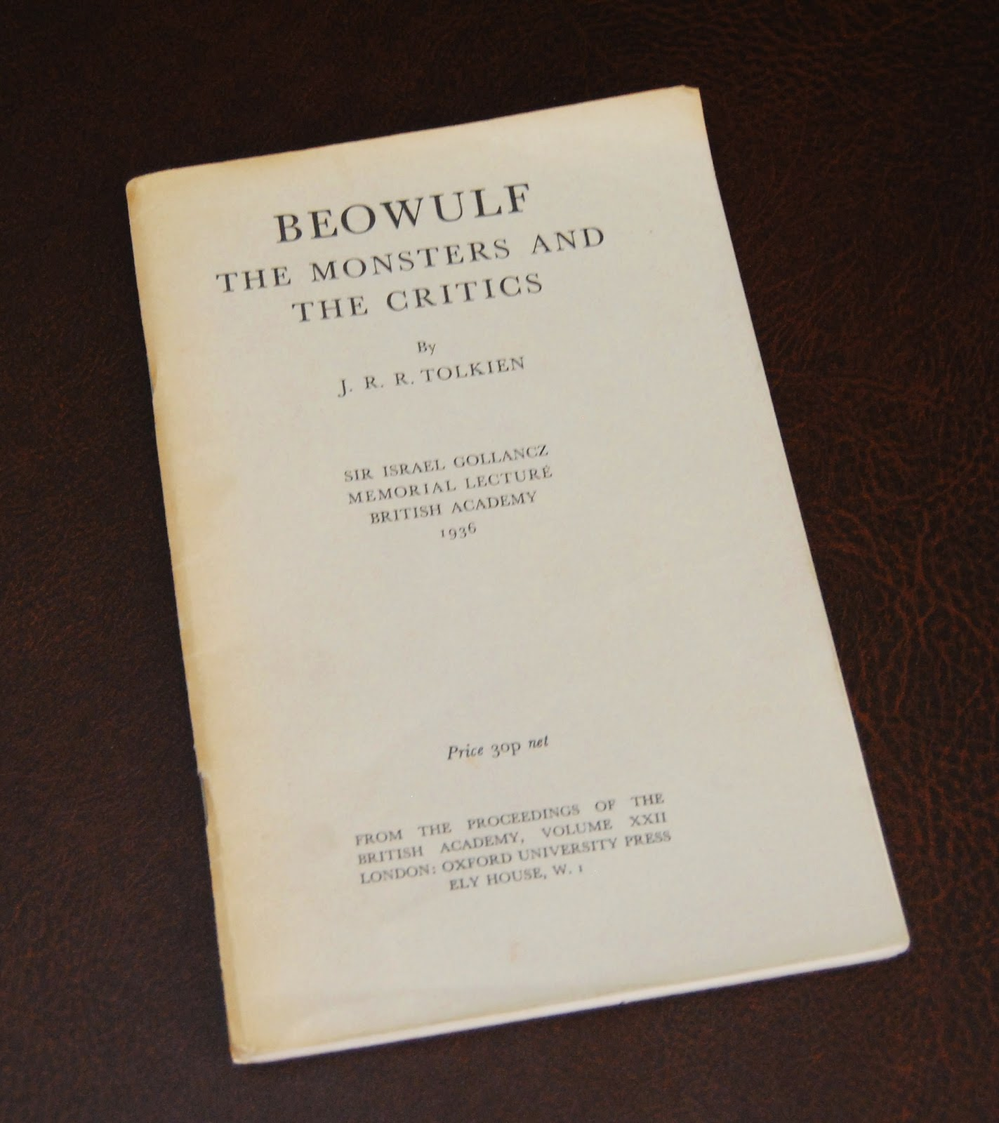 beowulf: the monsters and the critics essay Talking of tolkien, it was his influential 1936 essay, 'beowulf: the monsters and the critics', which was really responsible for a shift in the way that people read beowulf rather than viewing it as a historical document, tolkien urged, we should be reading and appreciating it as a work of poetry.