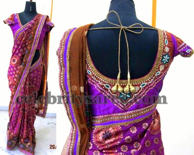 Purple Banarasi Fancy Wedding Saree