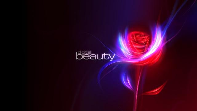Flower Digital Beauty HD Wallpaper