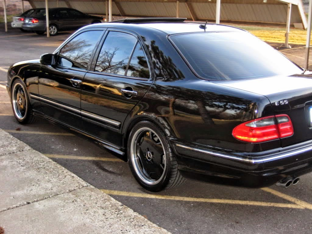 benztuning mercedes w210 e55 amg black on black. Black Bedroom Furniture Sets. Home Design Ideas