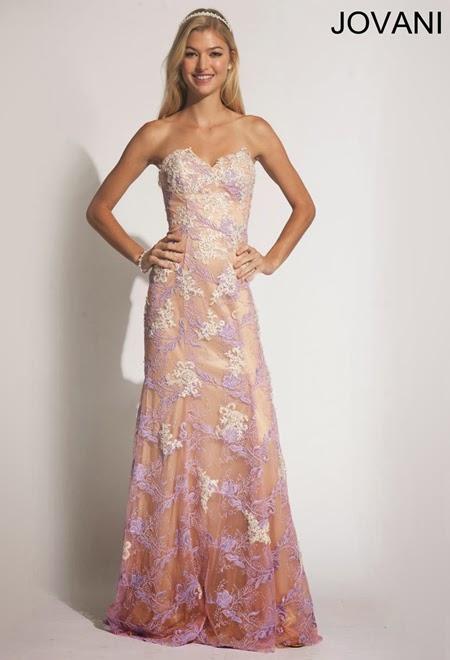 Дантелена бална рокля Jovani 2014