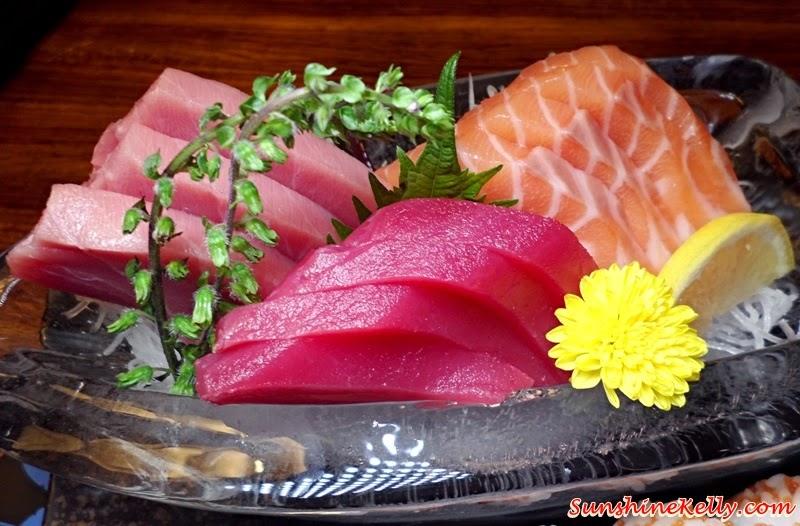 Genji Japanese Restaurant, Hilton Petaling Jaya, Osaka Tokyo Menu, Japanese Food, Sashimi Sushi Combi