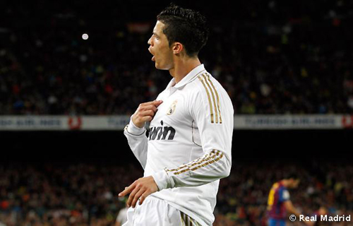 Cristiano Ronaldo celebrando gol en el Barcelona Real Madrid