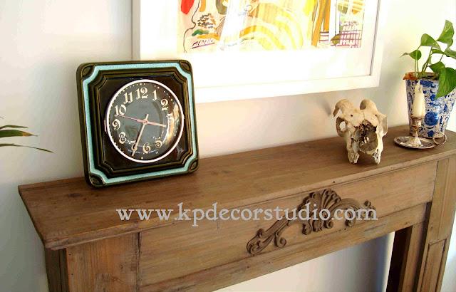 KP. Vintage. Relojes vintage baratos. Decora barato y con estilo. relojes decorativos cerámicos