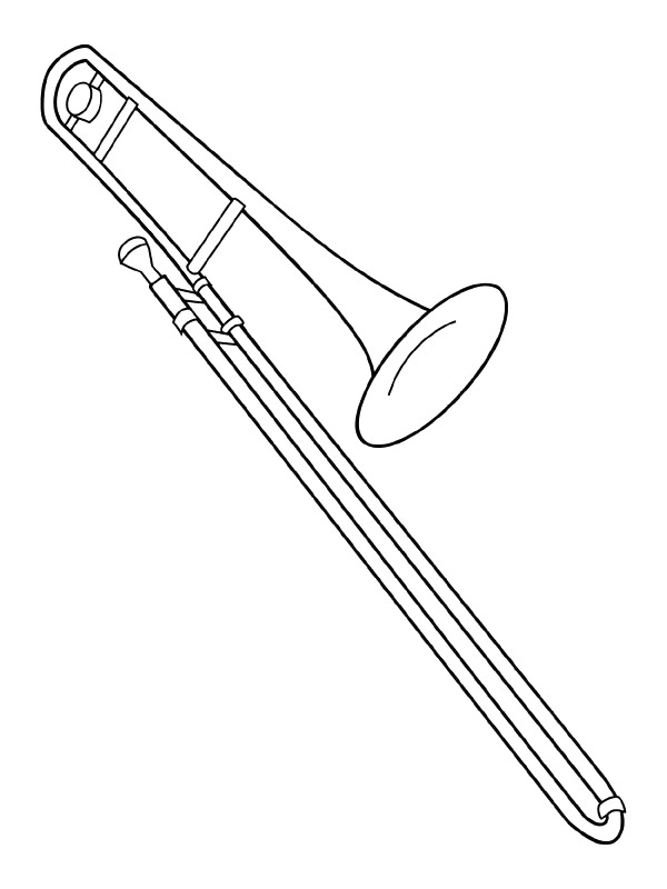 free music instrument coloring pages - photo#24