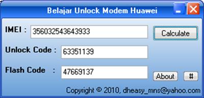 Belajar Unlock Modem Huawei