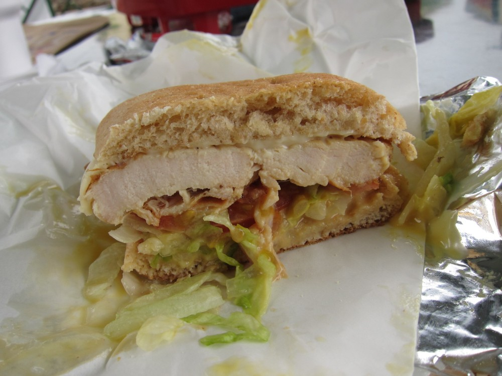 Review sonic honey mustard swiss chicken sandwich for Sonic fish sandwich
