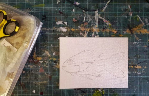 Whoopidooings: Carmen Wing - Mixed Media Fish for the 2015 #TwitterArtExhibit