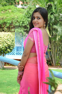 Samskruthi looks Lovely Homely Beauty in Pink Saree from movie Tippu