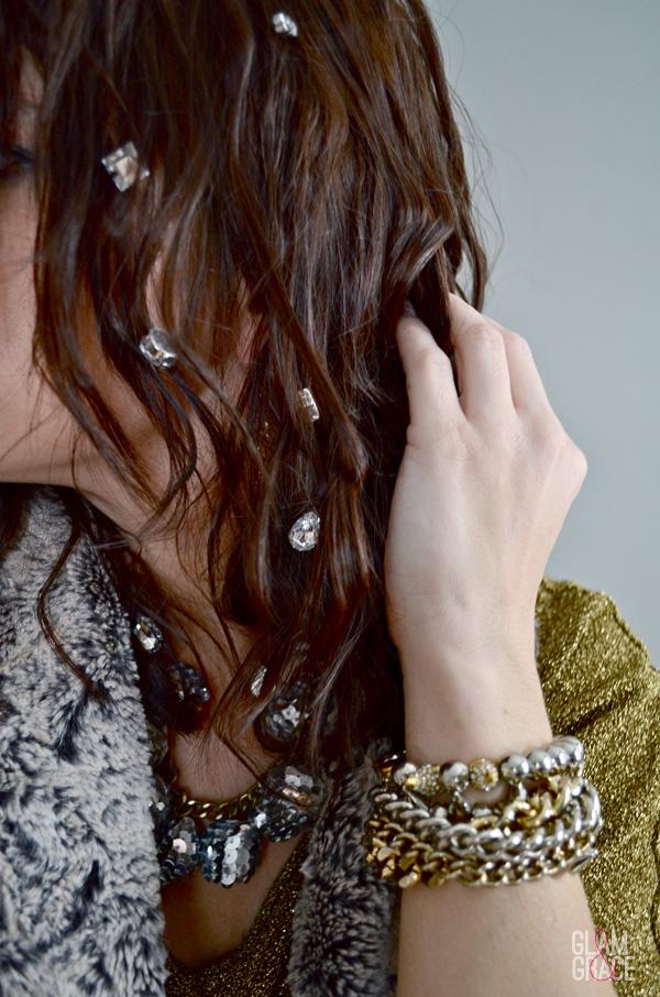 hair sparkle - rhinestone gems