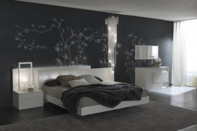 Bedroom Design – Wall stone bedroom | inehome.com