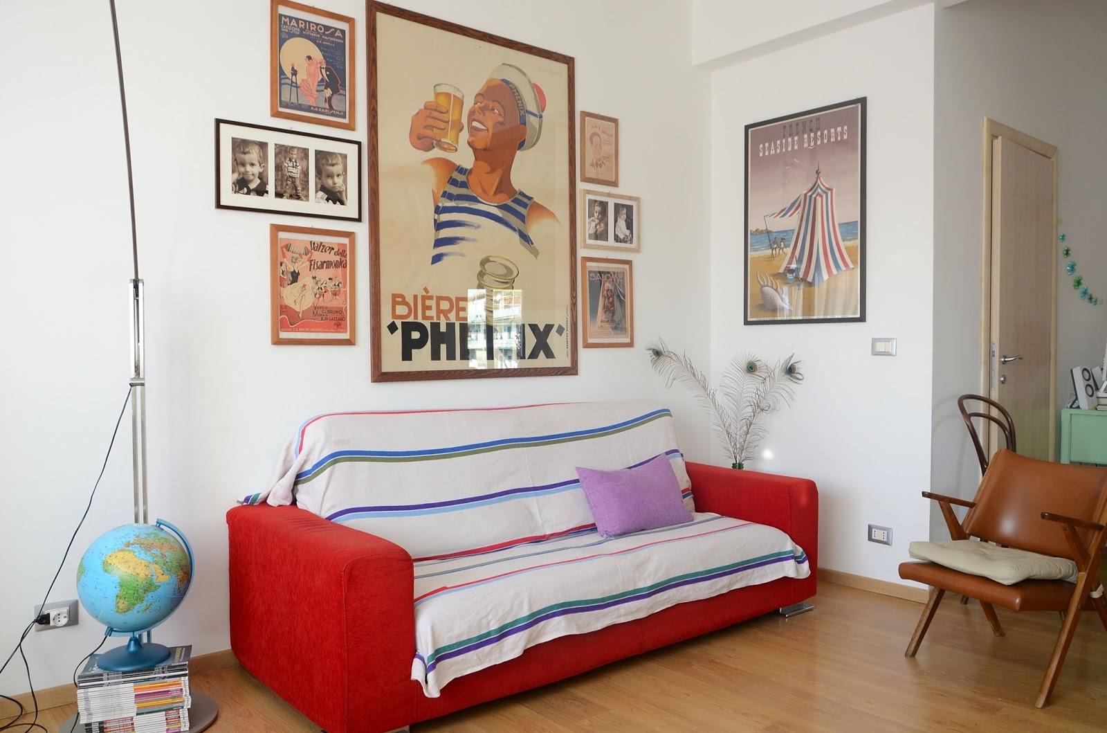 living room, vintage, manifesti d'epoca