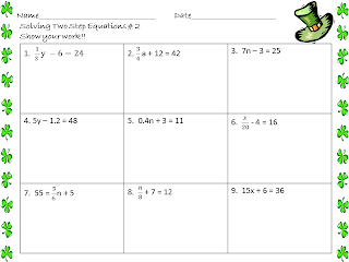 math worksheet : math central solving two step equations : Math Equations Worksheets