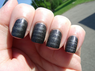 China Glaze Stone Cold Striped Mani