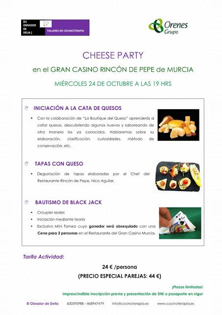 Programa de la actividad taller de iniciación a la cata de quesos.