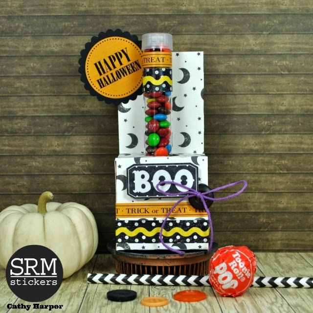SRM Stickers - Halloween Crafting by Cathy H.- #srmstickers #halloween #tubes #stickers