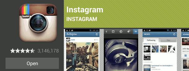 instagram on play store