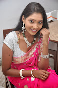 Actress Nisha Latest Photos in Pink saree-thumbnail-7
