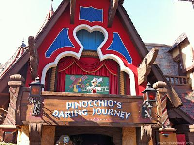 Pinocchio Disneyland Pinocchio's Daring Journey dark ride