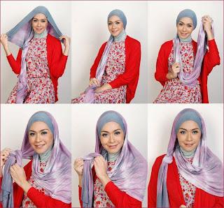 Model tips Video Cara Pakai Jilbab Modern