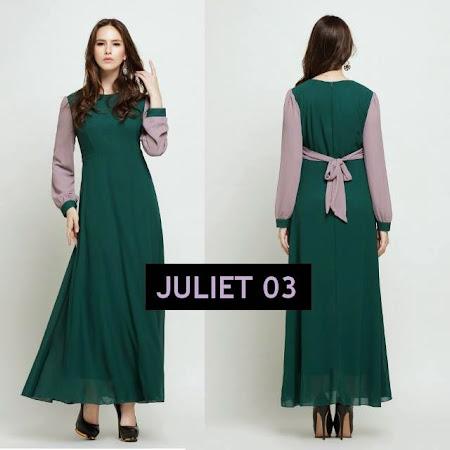 Dress Menawan Chiffon Full Lining Dengan Kombinasi Warna Warna MAnis Sangat MEnawan