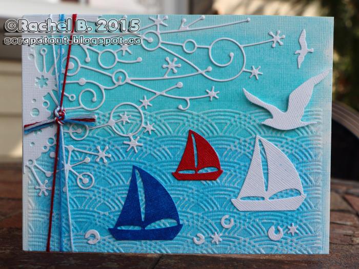 Handmade Nautical Card Memory Box IO