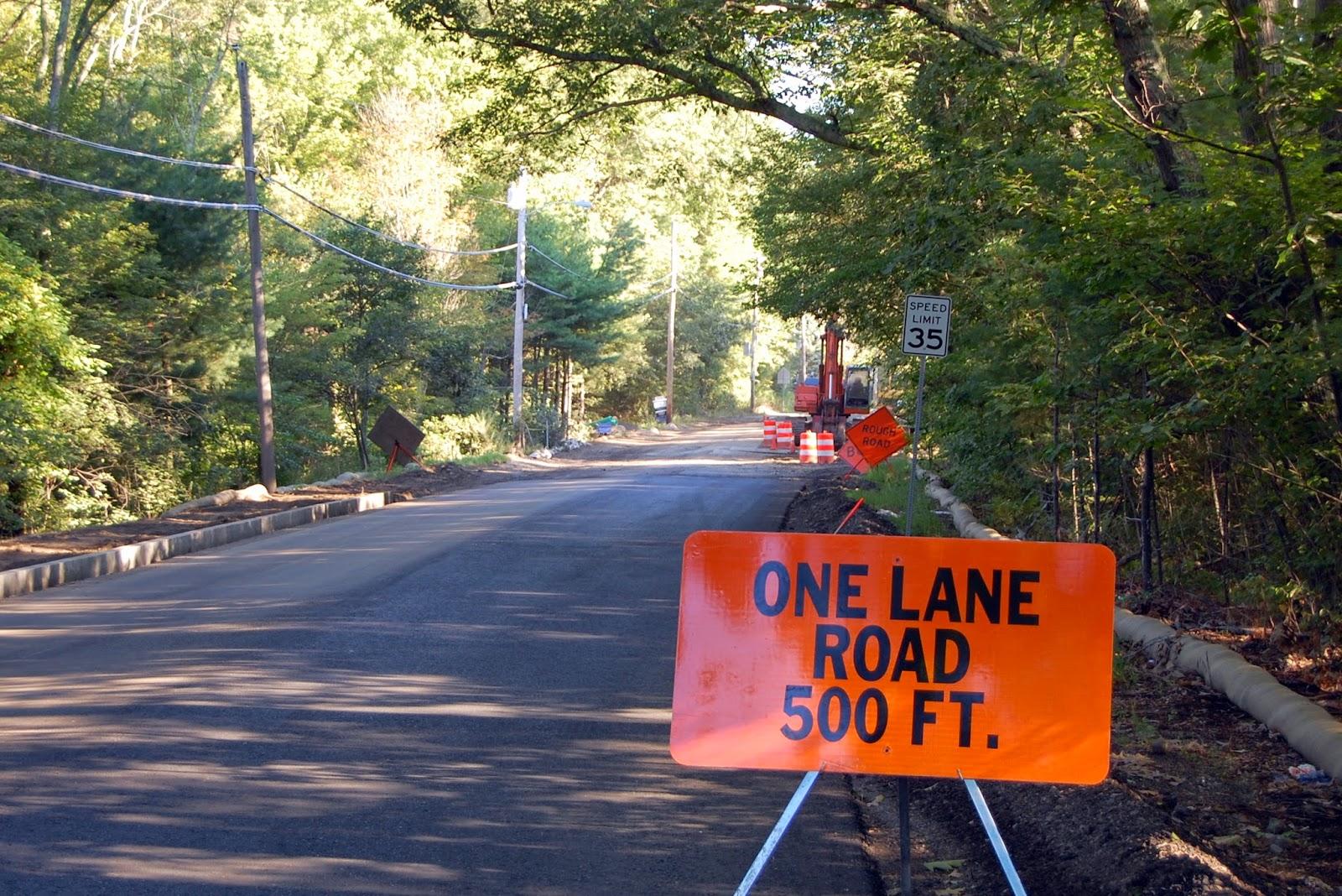 single lane restriction for culvert work