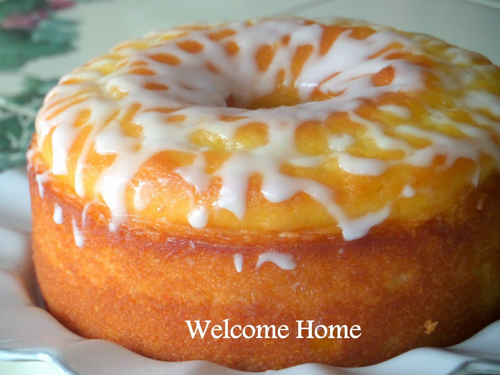 Lemon Cake With Lemon Glaze Icing