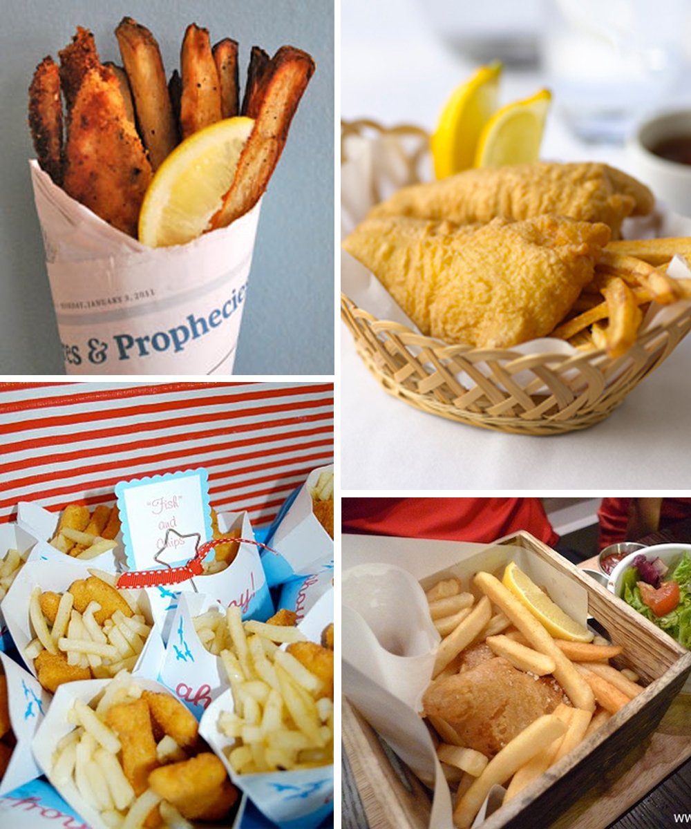 Fish and chip food stand perfect for an australia day for Fish themed party food