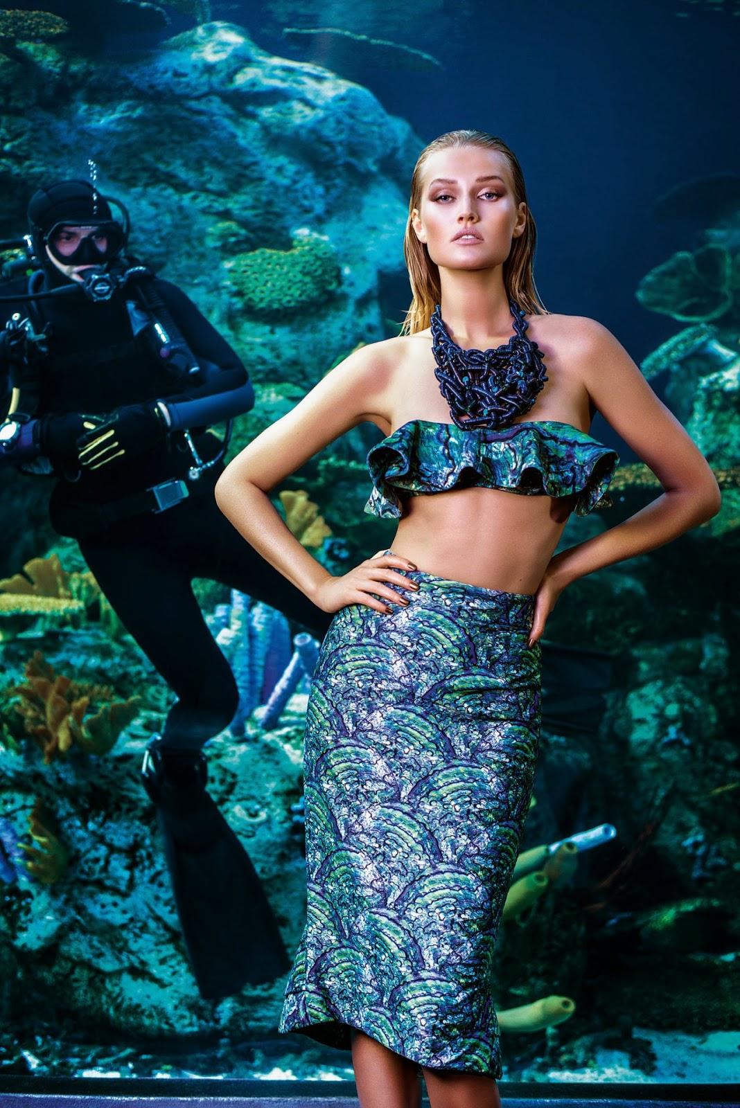 Agua de Coco Beachwear Spring/Summer 2015 Campaign featuring Toni Garrn