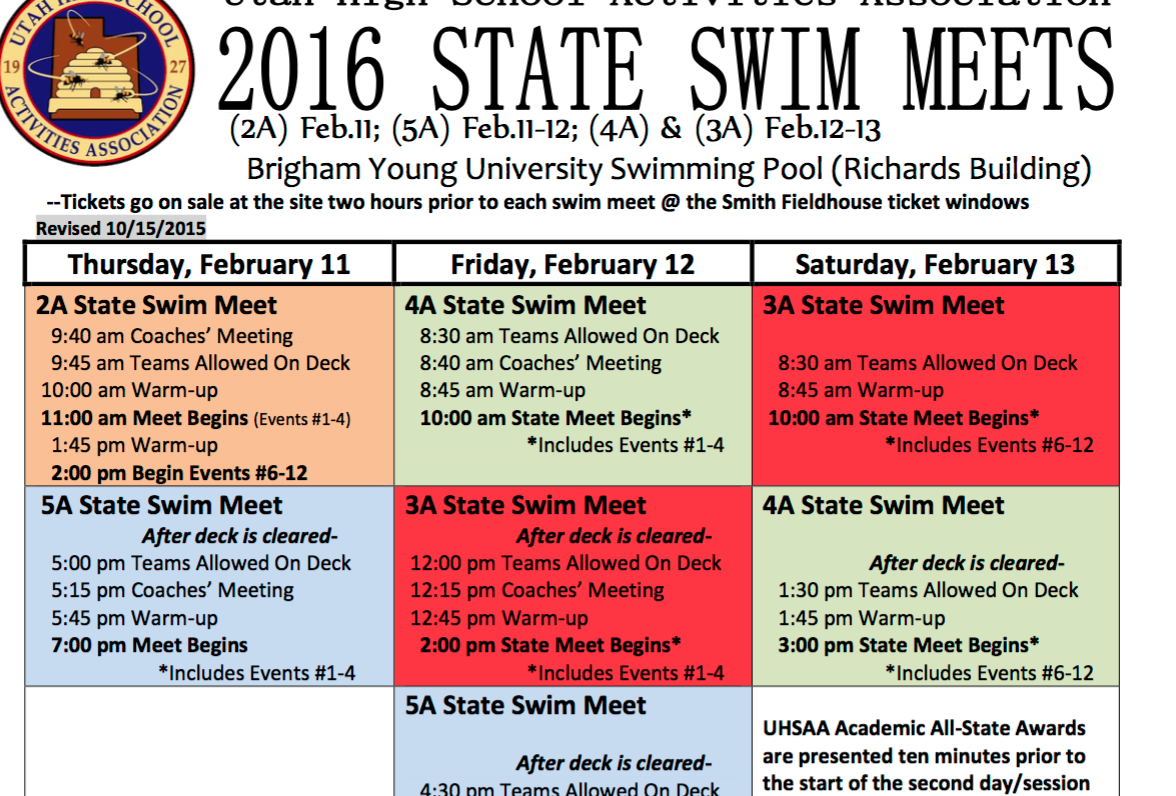 Cedar high swim state meet schedule - Ymca flushing swimming pool schedule ...
