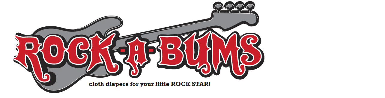 Rock-a-Bums Diapers for your little ROCK STAR!