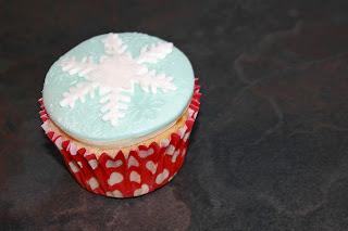 Snowflake topped cupcake