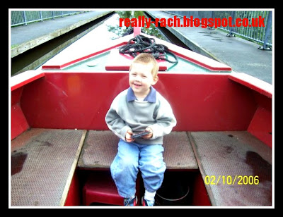 Really Rachel happy boy on the Montgomery Canal
