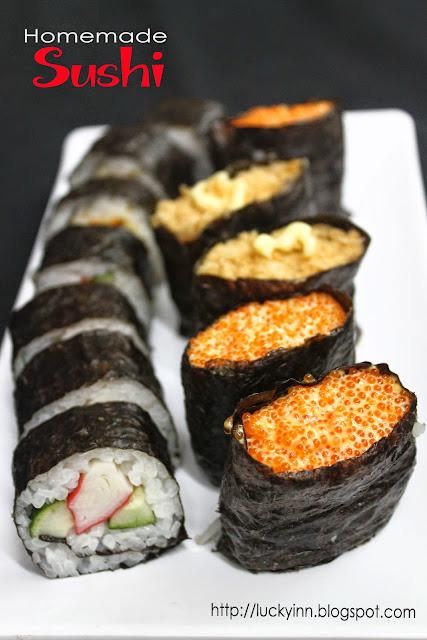 Lucky Inn: 自制寿司 Homemade Sushi