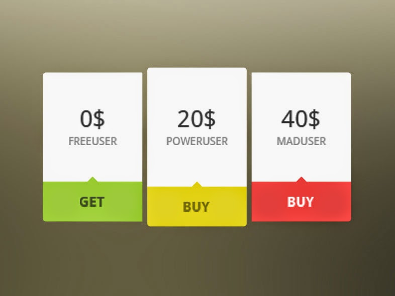Mini Pricing Tables Free PSD