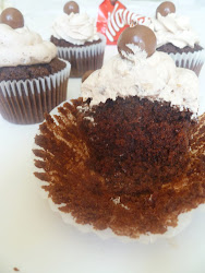 Chocolate Maltesers Cupcakes with Malteser Buttercream